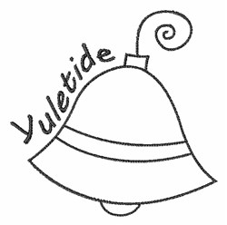 Yuletide Bell Outline embroidery design