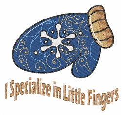 Little Fingers embroidery design