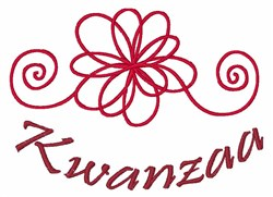 Kwanzaa embroidery design