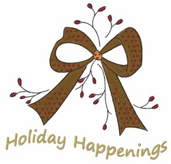 Holiday Happenings embroidery design