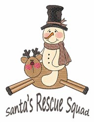 Rescue Squad embroidery design