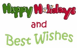 Best Wishes embroidery design
