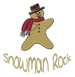 Snowman Rock embroidery design