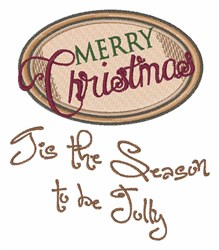 Be Jolly embroidery design