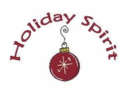 Holiday Spirit embroidery design