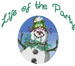 Life Of Party embroidery design