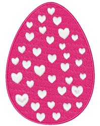 Easter Egg With Hearts embroidery design