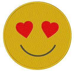 Heart Eyes Emoji embroidery design
