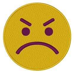 Angry Emoji embroidery design