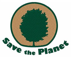 Save The Planet embroidery design