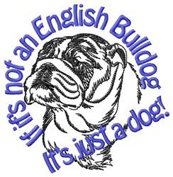 An English Bulldog embroidery design