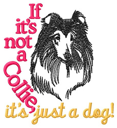 Collie embroidery design