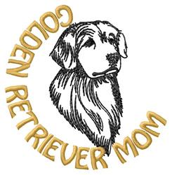Golden Retriever Mom embroidery design