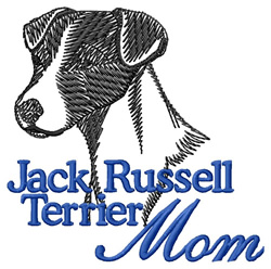Jack Russell Mom embroidery design