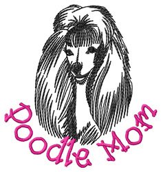 Poodle Mom embroidery design