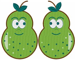 Pair of Pears embroidery design