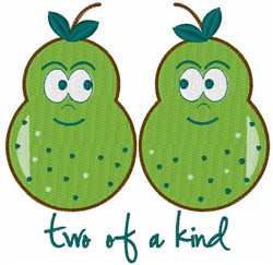 Pear of a Kind embroidery design