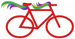 Red Bicycle embroidery design