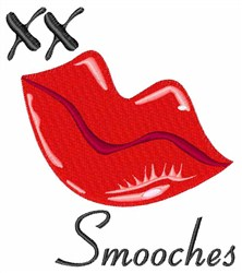Red Lips Smooches embroidery design