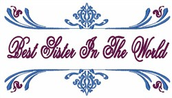 Best Sister embroidery design