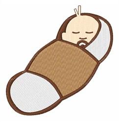 Baby Peanut Sleeping embroidery design