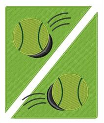 Tennis Ball embroidery design