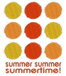 Summertime Pattern embroidery design