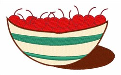 Cherry Bowl embroidery design