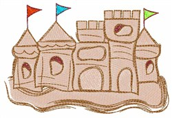 Sandcastle embroidery design