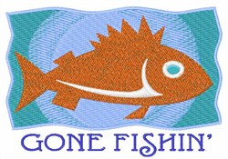 Gone Fishin embroidery design