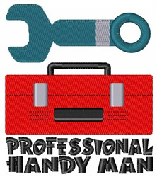 Professional Handy Man embroidery design