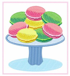 Macaroons embroidery design