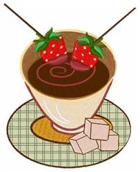 Chocolate Fondue embroidery design