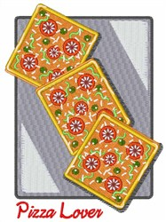 Pizza Lover embroidery design