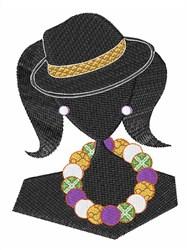Fashion Gal Silhouette embroidery design