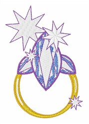 Diamond Ring Bling embroidery design