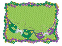 Framed Mardi Gras Items embroidery design