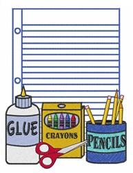 School Supplies embroidery design