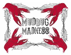 Mudbug Madness embroidery design