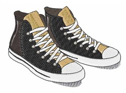 High Top Sneakers embroidery design