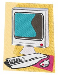 Personal Computer embroidery design