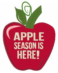 Apple Season embroidery design