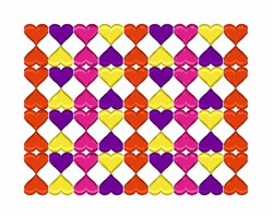 Heart Pattern embroidery design