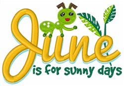 Sunny Days embroidery design