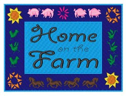 Home on the Farm embroidery design