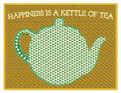 Happiness is a Kettle embroidery design