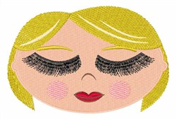 Long-Lashed Blonde embroidery design