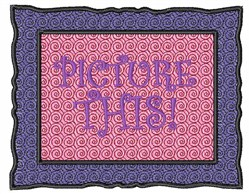 Picture This embroidery design