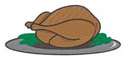 Turkey on Platter embroidery design