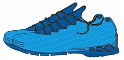 Blue Sneakers embroidery design